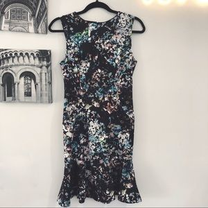 The Limited Dresses - The Limited NWT patterned trumpet flare dress